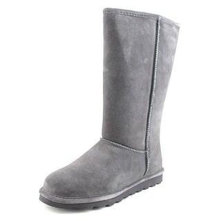 Bearpaw Elle Tall Women  Round Toe Suede Gray Winter Boot