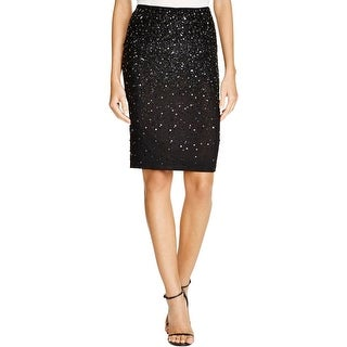 Alice + Olivia Womens Ramos Pencil Skirt Embellished Mesh