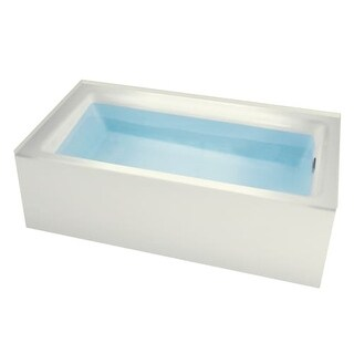 "Miseno MNO3260WAS-R Vitality 60"" Three Wall Alcove Soaking Bathtub - Self Leveling Base and Overflow Drain Kit Included Free"