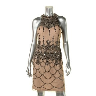 Adrianna Papell Womens Embellished Sleeveless Cocktail Dress - 8