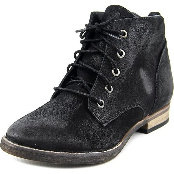 Diba Eli 91101 Women Round Toe Leather Black Ankle Boot