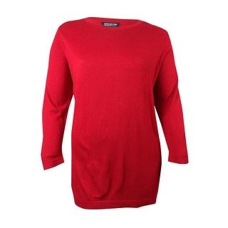 Jones New York Women's Basic Scoop Neck Tunic Sweater