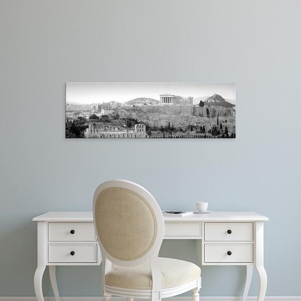 Easy Art Prints Panoramic Images's 'View Of Buildings In A City, Parthenon, Acropolis, Athens, Greece' Canvas Art