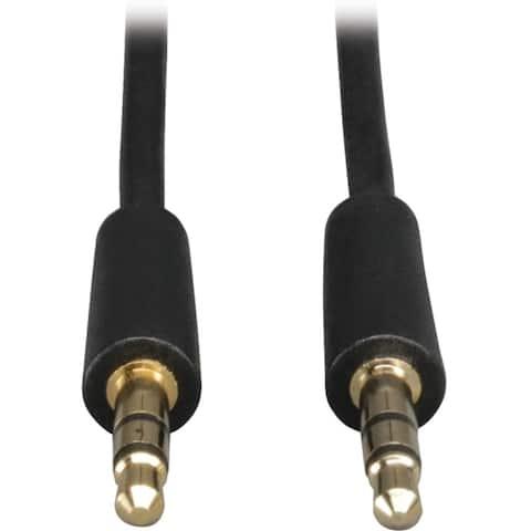 Tripp lite p312-012 12ft mini stereo audio dubbing cable 3.5mm connectors m/m 12ft - Black