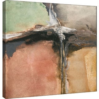 "PTM Images 9-100957  PTM Canvas Collection 12"" x 12"" - ""Gilded Crevice 8"" Giclee Abstract Art Print on Canvas"