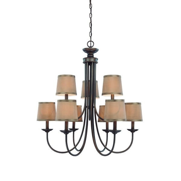 """Jeremiah Lighting 26129 Spencer 27.5"""" Wide Two Tier 9-Light Candle Style Chandelier - Without Shades - n/a"""