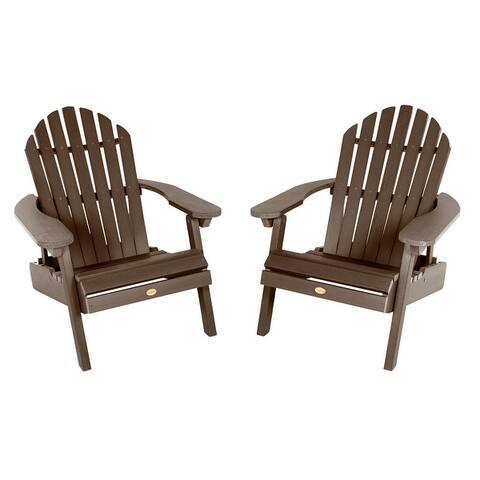 Set of Two Highwood Hamilton Folding and Reclining Adirondack Chairs