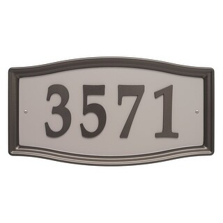 Whitehall Products Easy Street Address Sign Plaque Bronze