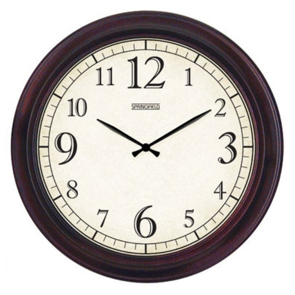 Springfiels 98209 Contemporary Wall Clock, Metal Frame, 14""