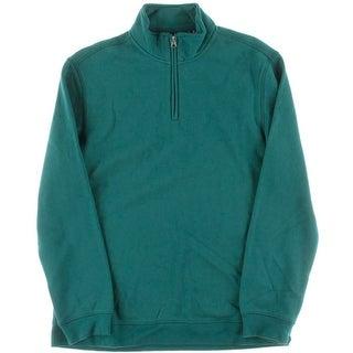 John Ashford Mens Fleece 1/2 Zip Sweatshirt