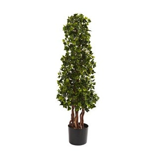 Nearly Natural 3.5' English Ivy Spiral UV Resistant