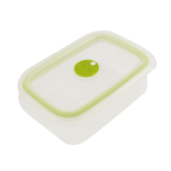 Unique Bargains Home School Plastic Two Compartments Lunch Box Storage Light Green