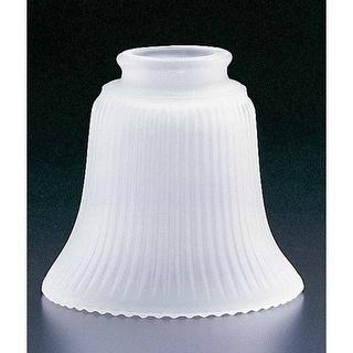 """Volume Lighting GS-19 4.5"""" Height Frost Ribbed Glass Bell Ceiling Fan Light Kit"""