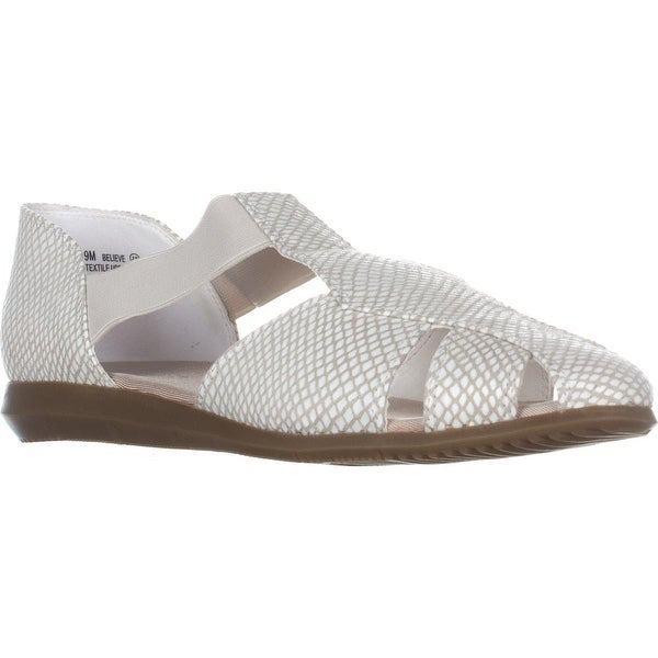 Aerosoles Believe Slip On Flats, White Snake - 9 us