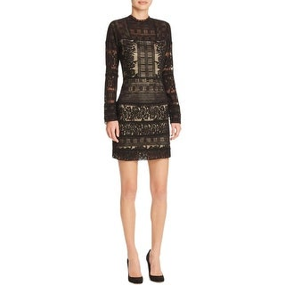 Parker Womens Cocktail Dress Lace Lined