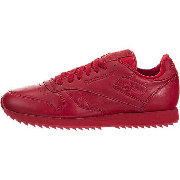 Reebok Mens Cl Leather Ripple Mono, Scarlet
