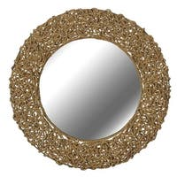 Kenroy Home 60203 Seagrass Round Mirror - natural material - N/A