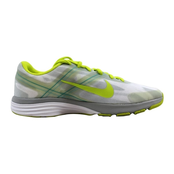 fe14ebbb85f8f Shop Nike Dual Fusion TR 2 Print White Venom Green-Light Base Grey ...