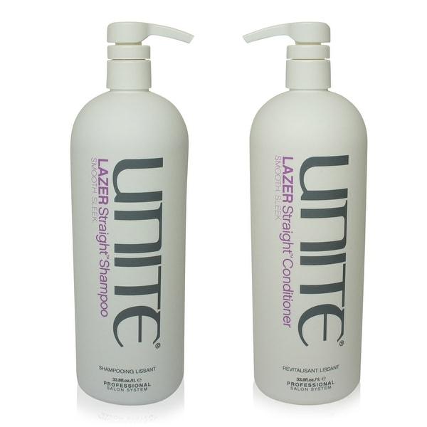UNITE Lazer Straight Shampoo & Conditioner 33 Oz Combo Pack