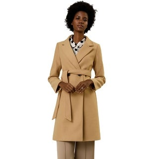Link to Women's Double Breasted Belted Pocket Trench Coat Similar Items in Women's Outerwear
