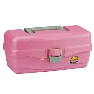 Plano youth pink tackle box with lift out tray