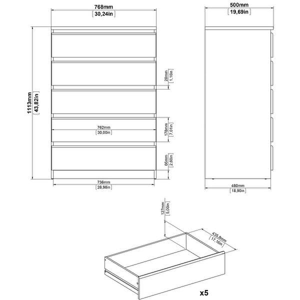 Porch & Den McKellingon 5-drawer Chest