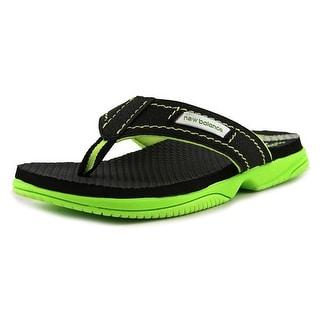 New Balance K6021 Youth Open Toe Synthetic Black Thong Sandal