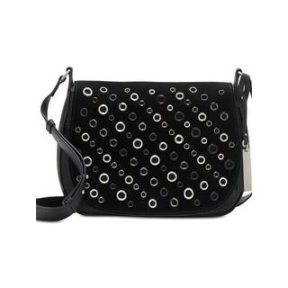 Vince Camuto Womens Chip Crossbody Handbag Leather Grommet - MEDIUM