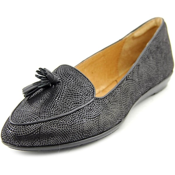 Sofft Bryce Women Apron Toe Leather Black Loafer