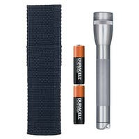 Maglite M2A09H Mini Flashlight & Holster Combo Pack, Gray, 14 Lumens
