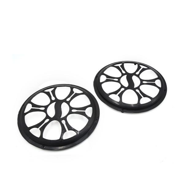 "2 Pcs 10"" Dia Black Plastic Audio Speaker Subwoofer Dust Cover Protector for Car"