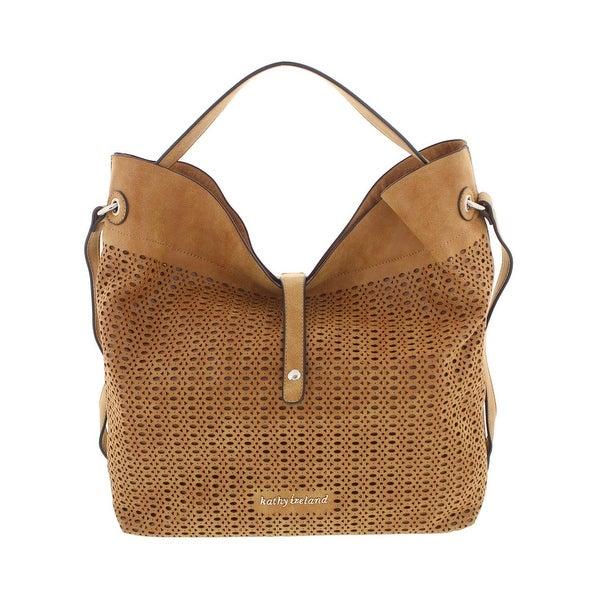 Shop Kathy Ireland Womens Hobo Handbag Faux Leather Laser Cut - Free ... 03bc12bda3