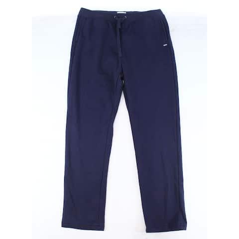 Ugg Men's Sleepwear Blue Size 2XL Lounge Pants Drawstring Low-Rise