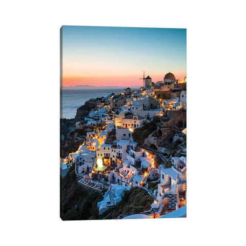 "iCanvas ""Santorini Evening"" by Matteo Colombo Canvas Print"