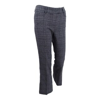Tahari ASL Women's Petite Plaid Trousers - Grey/Black
