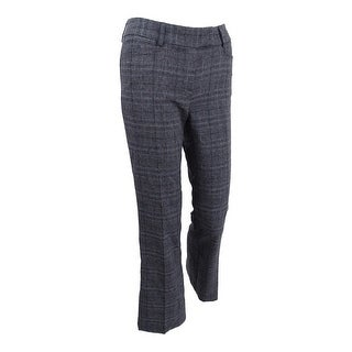 Tahari ASL Women's Plaid Trousers - Grey/Black