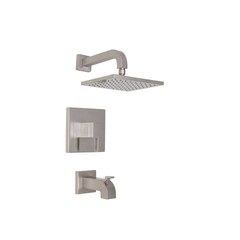Mirabelle MIRRI8030E Rigi Tub and Shower Trim Package with Single Function Rain Shower Head -
