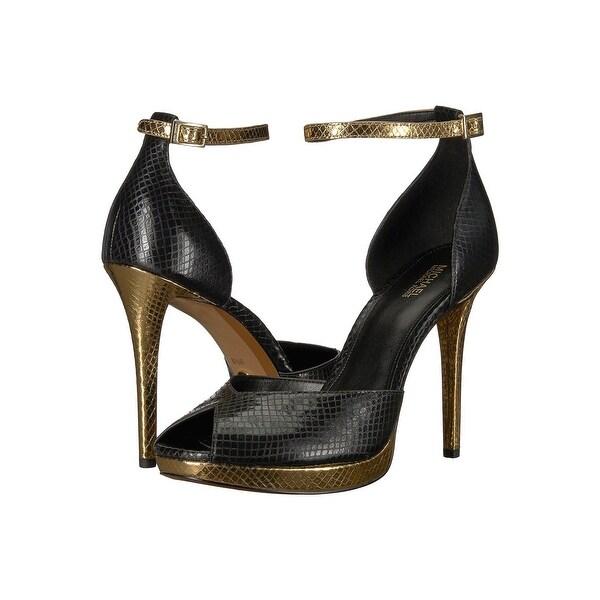 dac60ccfad6 Shop Michael Kors Womens Tiegan Sandal Peep Toe Ankle Strap Classic ...