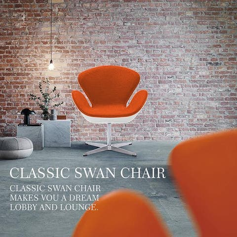 Classic Lounge Chair Swivel Height Adjustable, Wool Cashmere