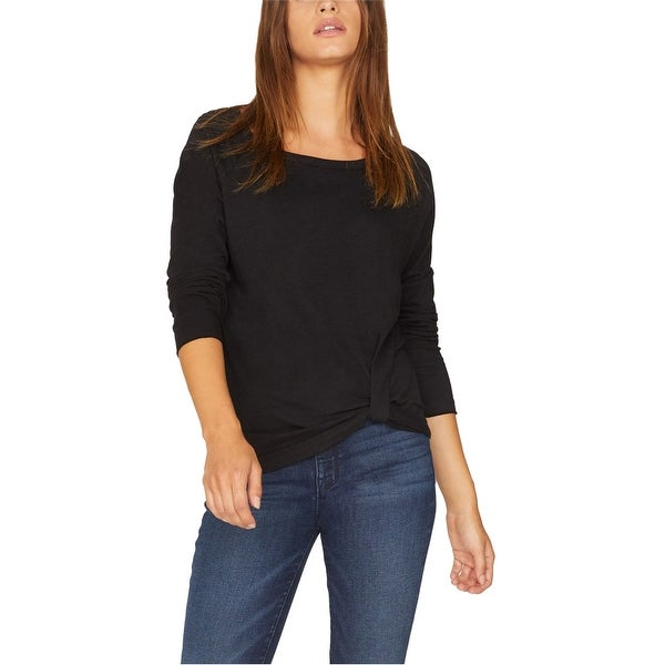 Sanctuary Clothing Womens Side Twist Front Basic T-Shirt. Opens flyout.
