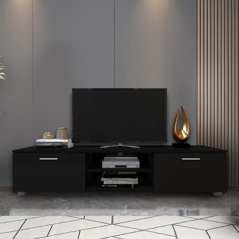 Merax TV Stand for 70 Inch TVs, Media Console Entertainment Center Television Table