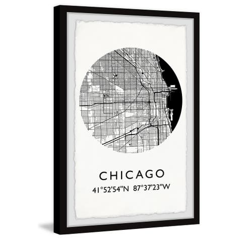 'Chicago Coordinates' Framed Painting Print