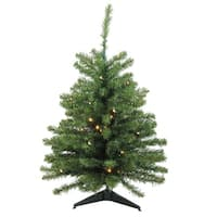 3' Pre-Lit LED Natural Two-Tone Pine Artificial Christmas Tree -Clear Lights - CLEAR