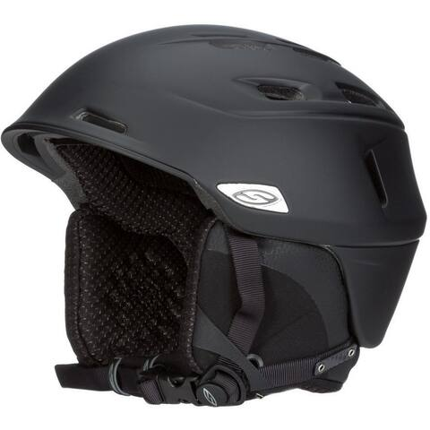 Smith Optics Camber Adult Ski Snowmobile Helmet (Matte Black/Medium) - Black