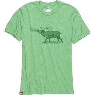 Altered Latitudes Mens Blue Marlin Sunset T-Shirt, Pale Yellow, L