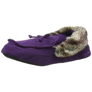 Isotoner Womens Suede Memory Foam Moccasin Slippers