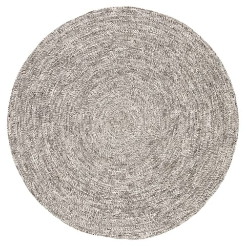 Mindra Natural Solid Round Area Rug