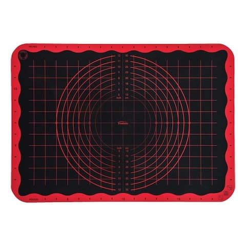 Trudeau 05115194 Pastry Mat, Silicone, Black/Red