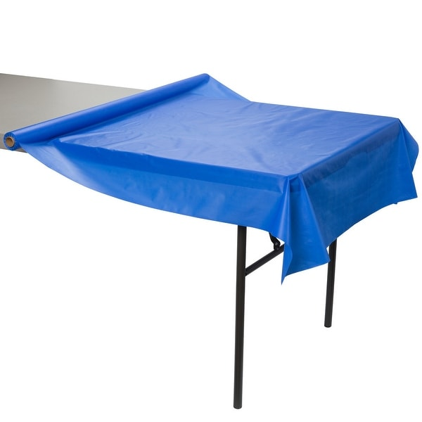 Shop Creative Converting 763147 Plastic Table Cover Roll Cobalt
