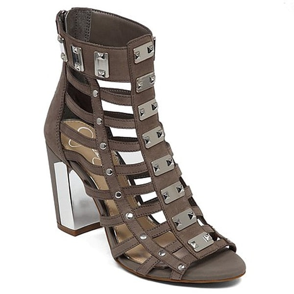 Jessica Simpson Womens Justinah Leather Open Toe Casual Strappy Sandals